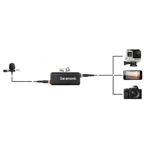 MICROFONE LAVMIC PARA SMARTPHONES, GOPRO E DSRL