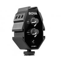 Adaptador de Áudio Boya BY-MP4 Para Câmeras DLSR e Smartphones