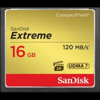 CARTÃO DE MEMÓRIA COMPACT FLASH 16GB SANDISK EXTREME 120MB/S